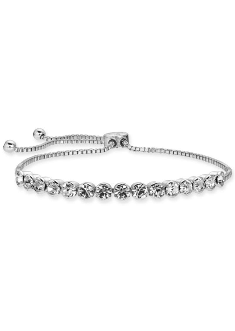Charter Club Rose Gold-Tone Crystal Slider Bracelet, Created for Macy's
