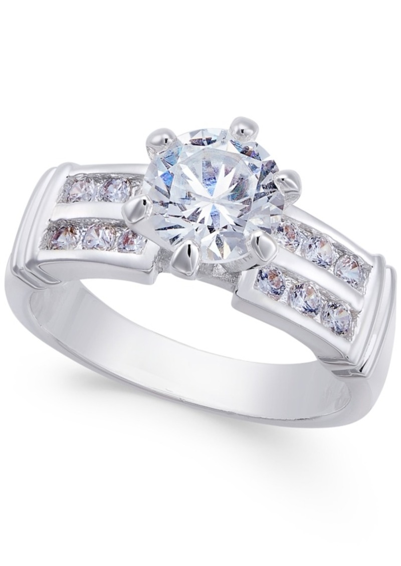 Charter Club Silver-Tone Cubic Zirconia Pave Ring, Only at Macy's