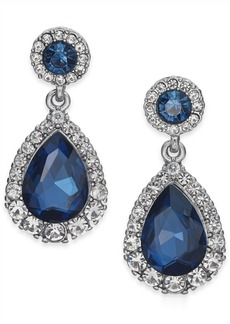 Charter Club Pave & Stone Drop Earrings, Created for Macy's