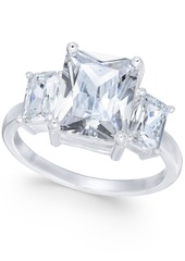Charter Club Silver-Tone Triple-Crystal Ring, Created for Macy's