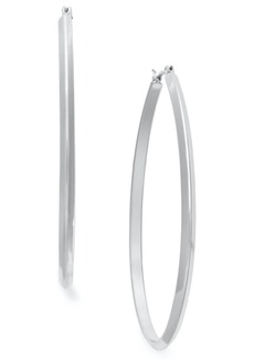 Charter Club Silver-Tone Twist Hoop Earrings