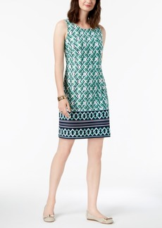 Charter Club Sleeveless Border-Print Dress, Created for Macy's