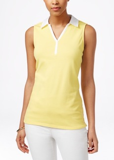 Charter Club Sleeveless Polo Shirt, Only at Macy's