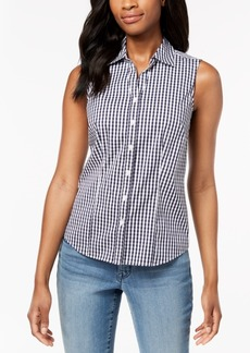 Charter Club Sleeveless Print Shirt, Created for Macy's