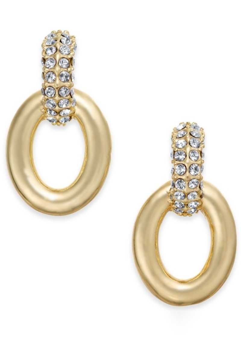 4b895e5bc Charter Club Charter Club Small Gold-Tone Pave Link Drop Earrings ...