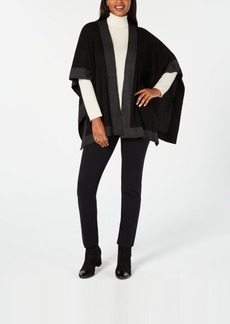 Charter Club Solid Knit Reversible Poncho, Created for Macy's