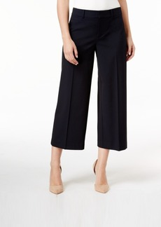 Charter Club Solid Polished Wide Leg Crop, Only at Macy's