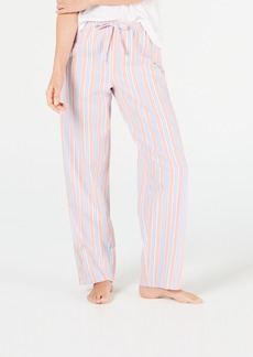 Charter Club Stripe-Print Woven Soft Cotton Pajama Pants, Created for Macy's