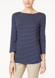 Charter Club Striped Boat-Neck Top, Only at Macy's