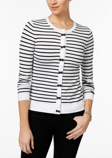 Charter Club Bow-Trimmed Cardigan, Only at Macy's