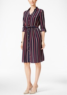 Charter Club Striped Fit & Flare Shirtdress, Only at Macy's