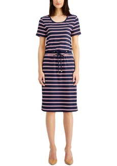 Charter Club Striped French Terry Dress, Created for Macy's