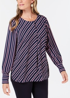 Charter Club Striped Henley Blouse, Created for Macy's