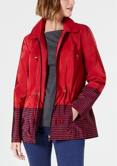 Charter Club Striped Hooded Anorak Jacket, Created for Macy's