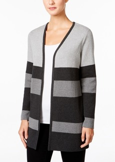 Charter Club Striped Open-Front Cardigan, Only at Macy's