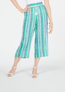 Charter Club Striped Wide-Leg Capri Pants, Created for Macy's