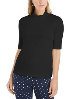 Charter Club Supima Cotton Mock-Neck Top, Created for Macy's
