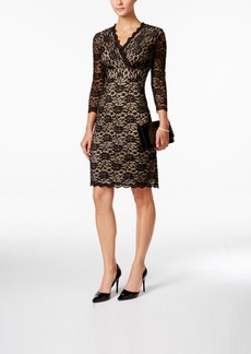 Charter Club Surplice Lace Sheath Dress, Only at Macy's