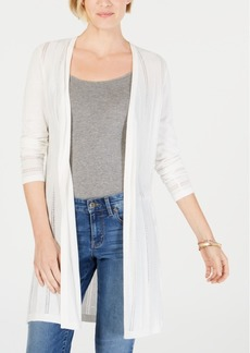 Charter Club Textured-Knit Open Cardigan, Created for Macy's