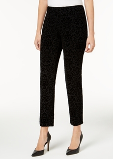 Charter Club Flocked Pattern Ponte Slim-Leg Pants, Only at Macy's