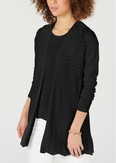 Charter Club Textured Zigzag Cardigan, Created for Macy's
