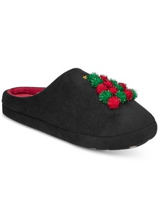 Charter Club Tree Pom-Poms Clog Slippers, Created for Macy's