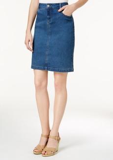 Charter Club Tummy-Control Denim Skirt, Created for Macy's