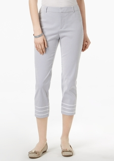 Charter Club Tummy-Control Seersucker Pants, Created for Macy's