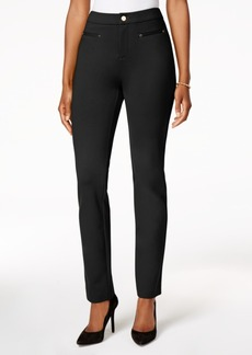 Charter Club Tummy-Control Slim-Leg Pants, Created for Macy's