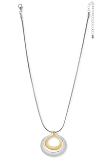 """Charter Club Two-Tone Orbital Pendant Necklace, 18"""" + 3"""" extender, Created for Macy's"""