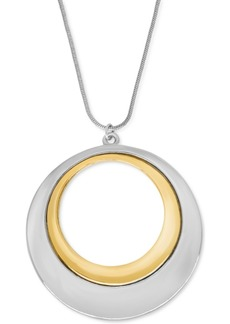 """Charter Club Two-Tone Pendant 34"""" Long Necklace, Created for Macy's"""