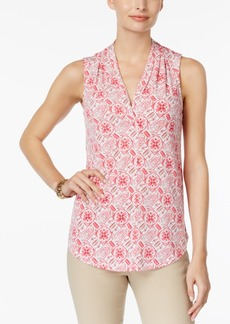 Charter Club V-Neck Print Top, Created for Macy's