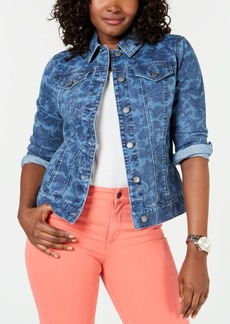 Charter Club Washed Print Denim Jacket, Created for Macy's