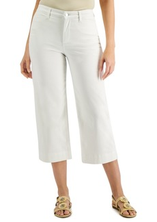 Charter Club Wide-Leg Cropped Jeans, Created for Macy's