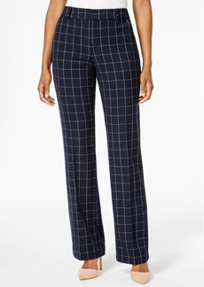 Charter Club Windowpane Print Trousers, Created for Macy's