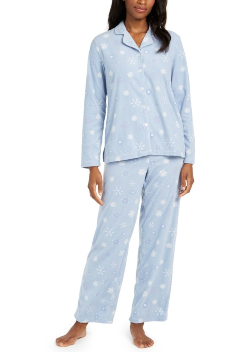 Charter Club Women's Cozy Fleece Pajama Set, Created for Macy's