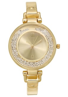 Charter Club Women's Gold-Tone Bangle Bracelet Watch 35mm, Created for Macy's