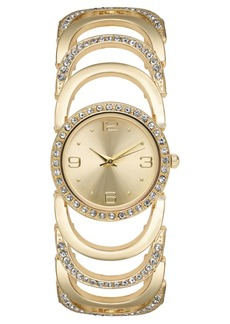 Charter Club Women's Gold-Tone Crystal Accent Bracelet Watch 34mm, Created for Macy's