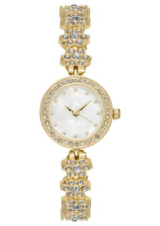 Charter Club Women's Gold-Tone Crystal Bracelet Watch 23mm, Created for Macy's