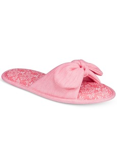 Charter Club Women's Open-Toe Bow Fashion Slippers, Only at Macy's