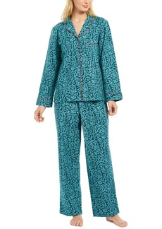 Charter Club Women's Petite Cotton Flannel Pajama Set, Created for Macy's