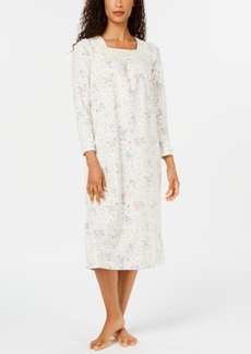 Charter Club Women's Printed Fleece Nightgown, Created for Macy's