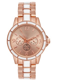 Charter Club Women's Rose Gold-Tone & White Bracelet Watch 34mm, Created for Macy's
