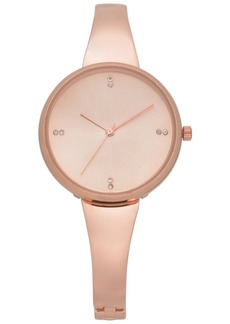 Charter Club Women's Rose Gold-Tone Bracelet Watch 34mm, Created for Macy's