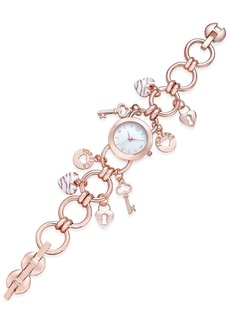 Charter Club Women's Rose Gold-Tone Charm Bracelet Watch 23mm, Created for Macy's