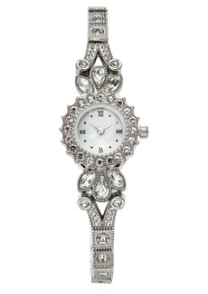 Charter Club Women's Silver-Tone Crystal Bracelet Watch 25mm, Created for Macy's