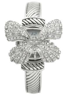 Charter Club Women's Silver-Tone Flip Butterfly Bracelet Watch 30mm, Created for Macy's