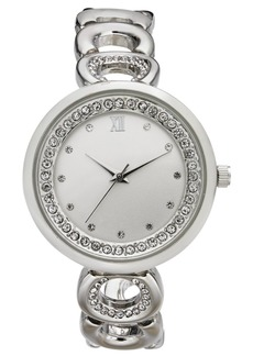 Charter Club Women's Silver-Tone Link Bracelet Watch 33mm, Created for Macy's