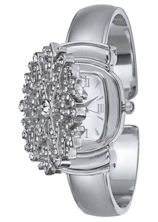 Charter Club Holiday Lane Women's Silver-Tone Snowflake Bracelet Watch 32mm, Created for Macy's