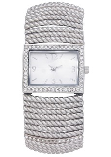Charter Club Women's Silver-Tone Stretch Bracelet Watch 42mm, Created for Macy's
